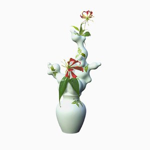 Green Blossoms Vase Without Holes by Studio Wieki Somers