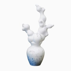White Blossoms Vase Without Holes from Studio Wieki Somers