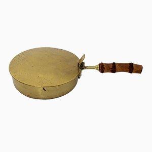Austrian Bamboo & Brass Service Bowl, 1960s