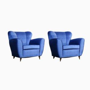 Fauteuils Vintage Bleus,1960s, Set de 2