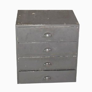 Small Industrial Four-Drawer Cabinet