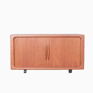 Sideboard with Tambour Doors by Dyrlund, 1960s