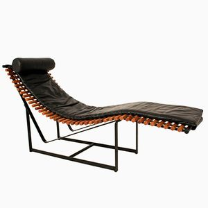Mid-Century Modern French Chaise Longue, 1970s