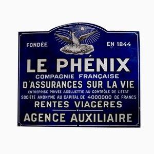 Panneau Le Phénix Vintage en Email , France