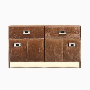 Velvet & Brass Cabinet. 1960s