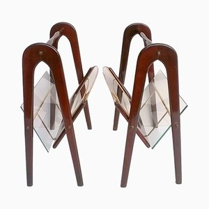 Two Magazine Racks by Lacca Cesare, 1950s