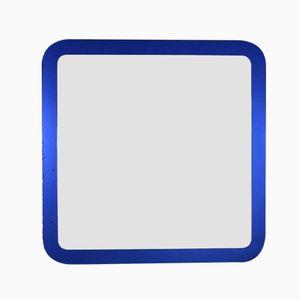 Italian Blue Framed Midcentury Mirror