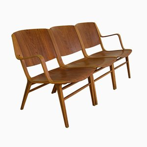 AX Lounge Chairs by Peter Hvidt & Orla Mølgaard for Fritz Hansen, 1947