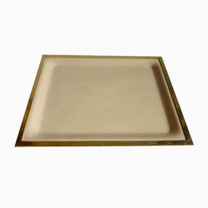 Lucite & Brass Tray, 1960s