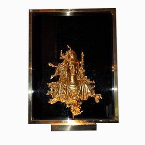 Applique in vetro e bronzo dorato