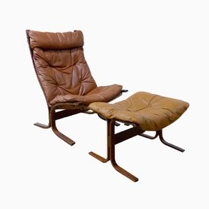 Siesta Lounge Chair and Ottoman by Ingmar Relling, Set of 2