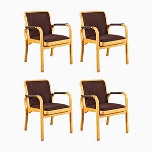 Armlehnstühle von Alvar Aalto für Artek, 1960er, 4er Set