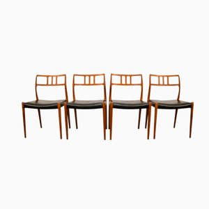 Model 79 Dining Chairs by Niels O. Møller for J.L. Møller, Set of 4