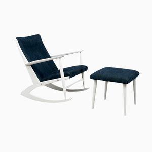 Rocking Chair avec Repose-pied, 1960s