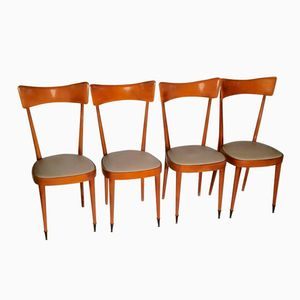 Mid-Century Italian Dining Chairs, Set of 4