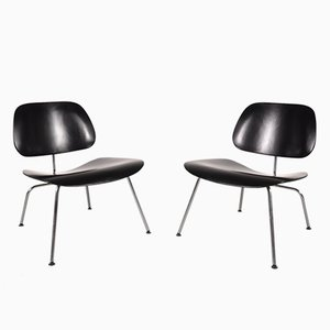 Chromed Metal and Plywood Chair by Charles & Ray Eames for Herman Miller