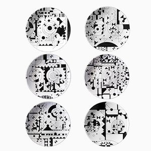 Porzellan Teller aus Moods Serie von Kosta Neofitidis für KOTA, 6er Set