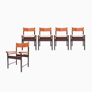 Chaises de Salon par Jorge Zalszupin pour L'Atelier, 1950s, Set de 5