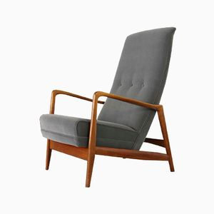 Mid Century Highback Lounge Chair by Gio Ponti for Cassina