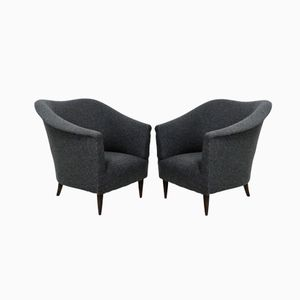 Fauteuils Club par Ico Parisi, Set de 2