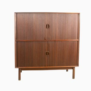 d nisches teakholz b cherregal mit schreibplatte 1960er bei pamono kaufen. Black Bedroom Furniture Sets. Home Design Ideas