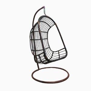 Vintage Rattan u0026 Bamboo Hanging Egg Chair  sc 1 st  Pamono & Vintage Rattan u0026 Bamboo Hanging Egg Chair for sale at Pamono