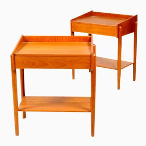 Midcentury Side Tables by Børge Mogensen for Søborg Møbelfabrik, 1950s, Set of 2