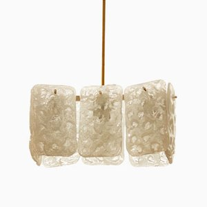 Austrian Ice Glass Chandelier by J.T. Kalmar
