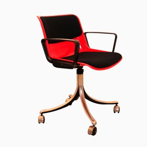 Italian Office Chair from Osvaldo Borsani for Tecno, 1970s