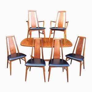 Teak Esszimmerset mit Tisch und Sechs Stühlen von Niels Kofoed für Koefoeds Hornslet, 1960er
