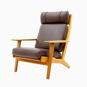 GE290 High Back Lounge Chair by Hans J. Wegner for Getama, 1970s