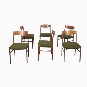 Danish Teak Dining Chairs from G. S. Glyngore Stolefabrik, 1960s, Set of 6