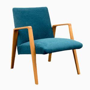 Light Beech Frame Easy Chair, 1960s
