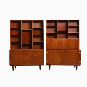 Cabinets with Bookcases by Peter Løvig Nielsen, Set of 2