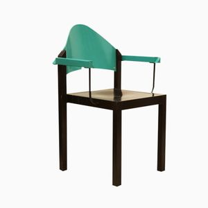 Stapelbarer Armlehnstuhl aus Sperholz von Thonet