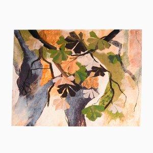 Tapisserie Murale Die Bäume par Zoja Elchlepp, 1981
