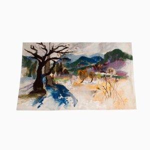Tapisserie Murale Landschaft Glottertal par Zoja Elchlepp, 1981