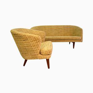 Modernistisches Skandinavisches Sofa mit Sessel