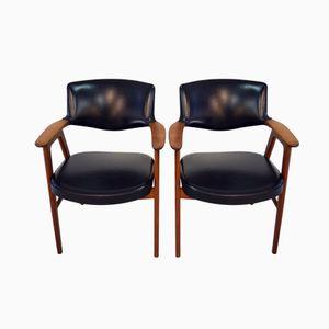 Mid Century Bürostühle von Erik Kirkegaard für Glostrup, 2er Set