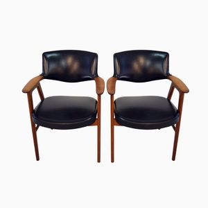 Mid-Century Office Chairs by Erik Kirkegaard for Glostrup, Set of 2