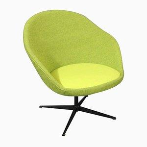 Lindgrüner Dänischer Lounge Stuhl, 1960er