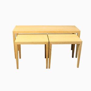 Tables Gigognes no. 165 en Chêne par Severin Hansen pour Haslev, 1960s, Set de 3