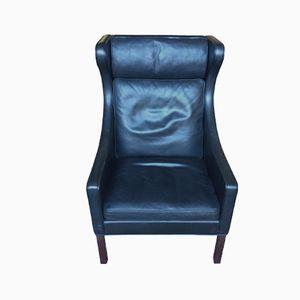 Modell 2204 Geschwungener Sessel von Børge Mogensen für Fredericia, 1970er