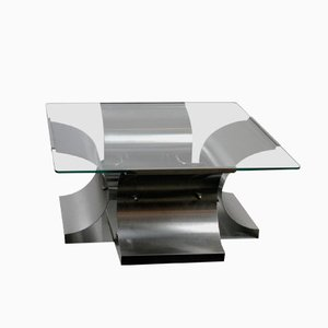French Coffee Table by Francois Monnet, 1970s