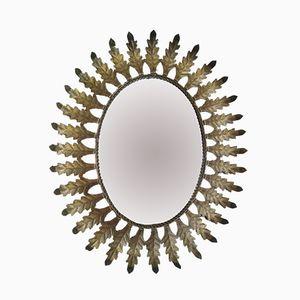 Vintage Sun-Shaped Spanish Mirror, 1950s