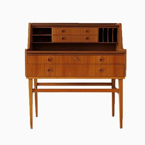 Danish Secretary with Drawers & Compartments, 1960s