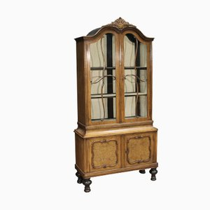 Vintage Dutch Oak Showcase Cupboard