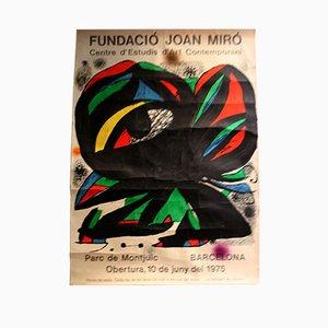 Affiche d'Exposition par Joan Miro, 1975