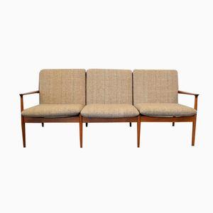 Danish 3-Seater Teak Sofa by Grete Jalk for Glostrup