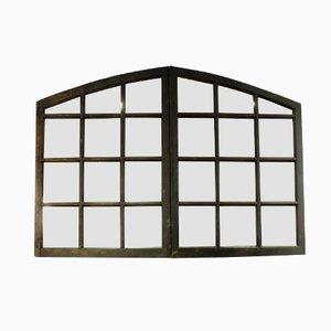 Miroir vintage industriel avec huit parties en vente sur for Miroir 3 parties